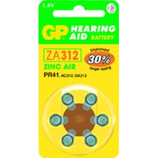 36 סוללות כפתור למכשירי שמיעה GP ZA 312