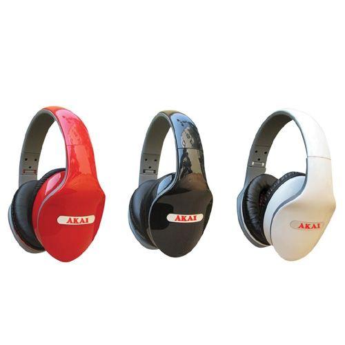 AKAI אוזניות מקצועיות בעיצוב אופנתי כולל מערכת HD SOUND ואקסטרה בס סיסטם !